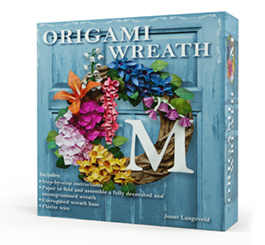 The Bookshop Origami Wreath